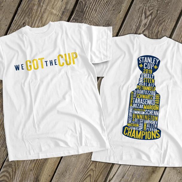 We got the cup saint louis blues 2019 champion names unisex Tshirt