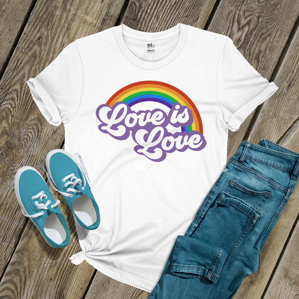 Love is love rainbow pride unisex Tshirt