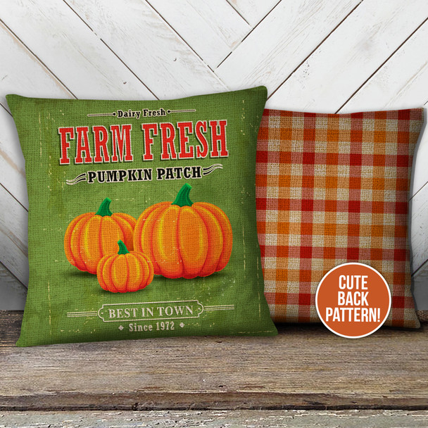 Fall pumpkin patch farm fresh pillowcase pillow
