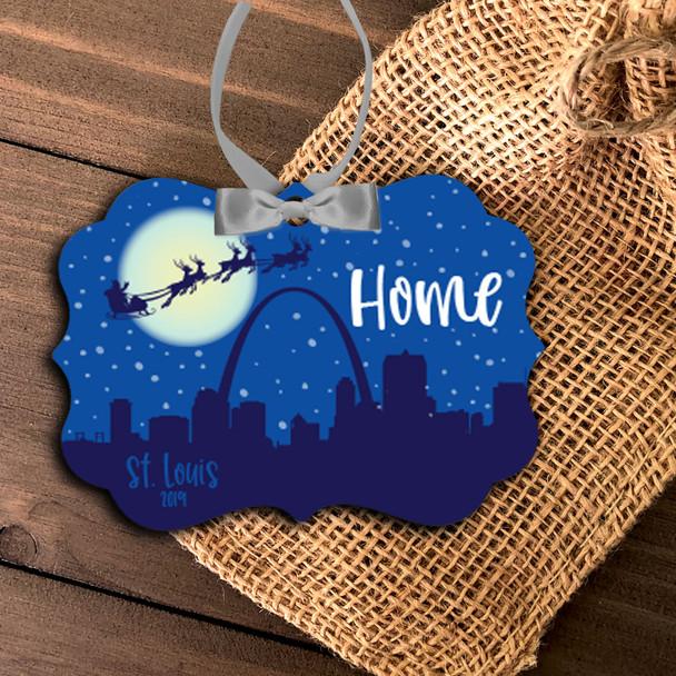 Saint Louis skyline home  Christmas ornament