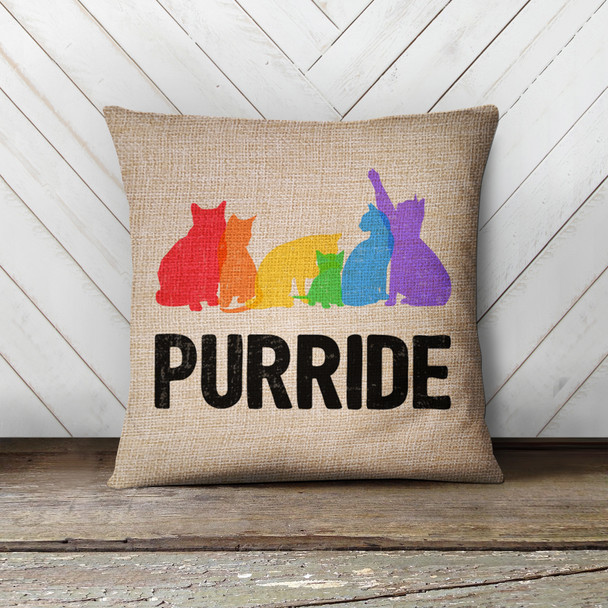 Pride rainbow cats purride pillowcase pillow