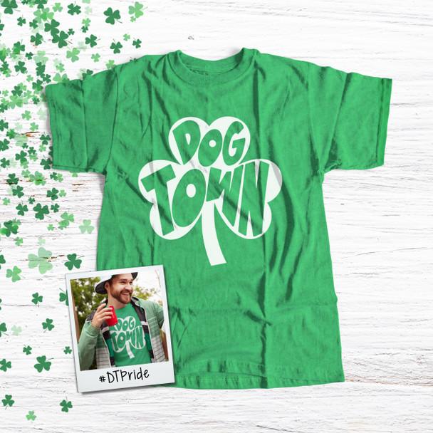 St. Patrick's Day shamrock dogtown saint louis DARK Tshirt