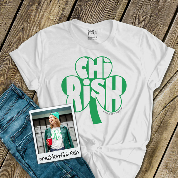 Chicago St. Patrick's Day Chi-Rish shamrock unisex Tshirt