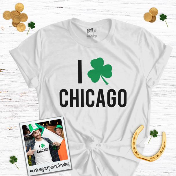 I shamrock Chicago St. Patrick's Day unisex Tshirt