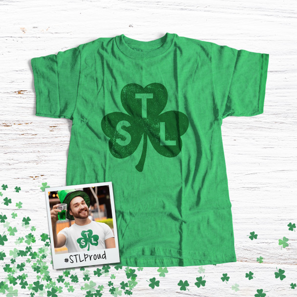 St. Patrick's Day STL shamrock saint louis adult unisex Tshirt