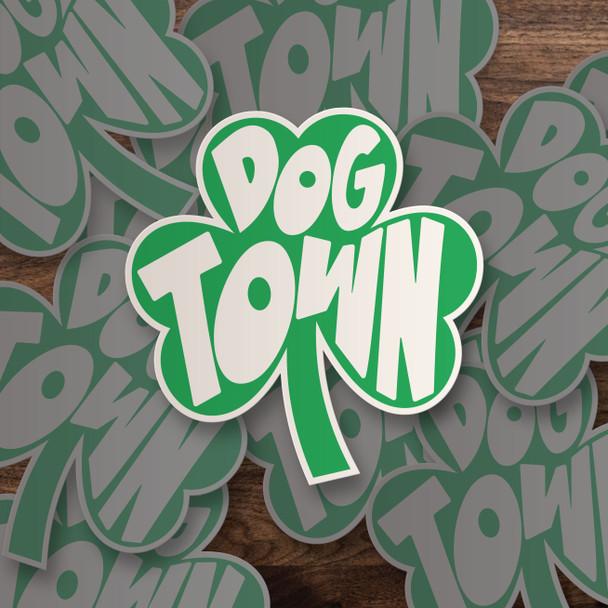 Dogtown irish shamrock vinyl sticker