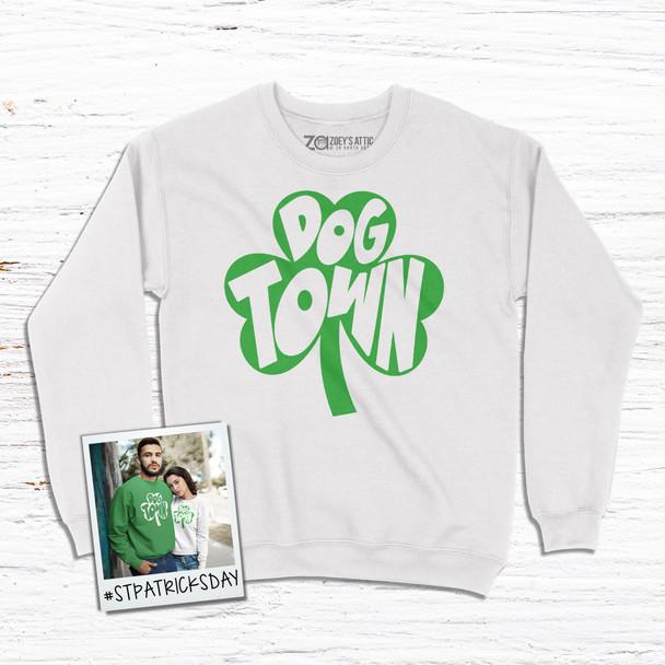 St. Patrick's Day shamrock dogtown saint louis adult sweatshirt