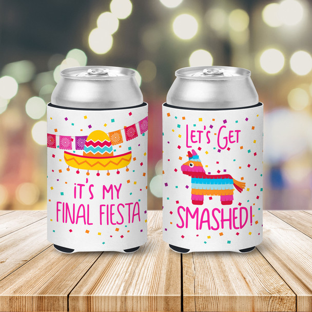 Bachelorette party get smashed bride and guests final fiesta can coolies