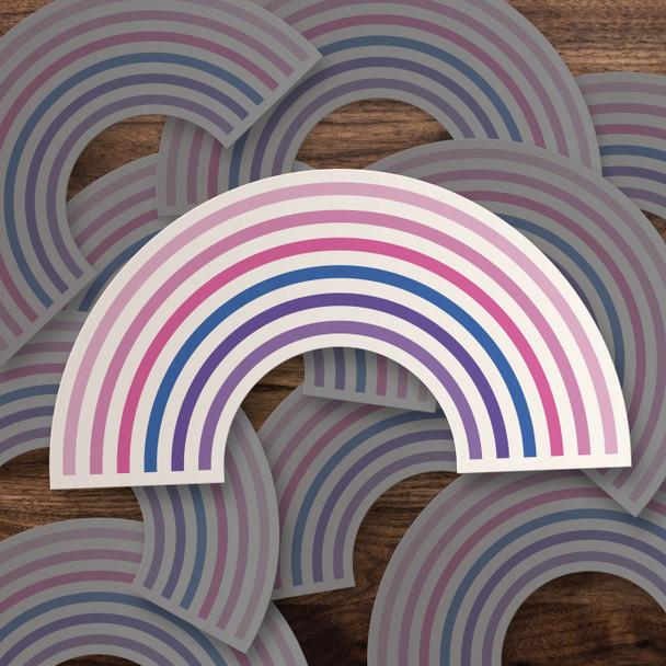 Pride bisexual rainbow vinyl sticker