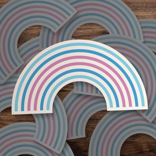 Pride transgender rainbow vinyl sticker