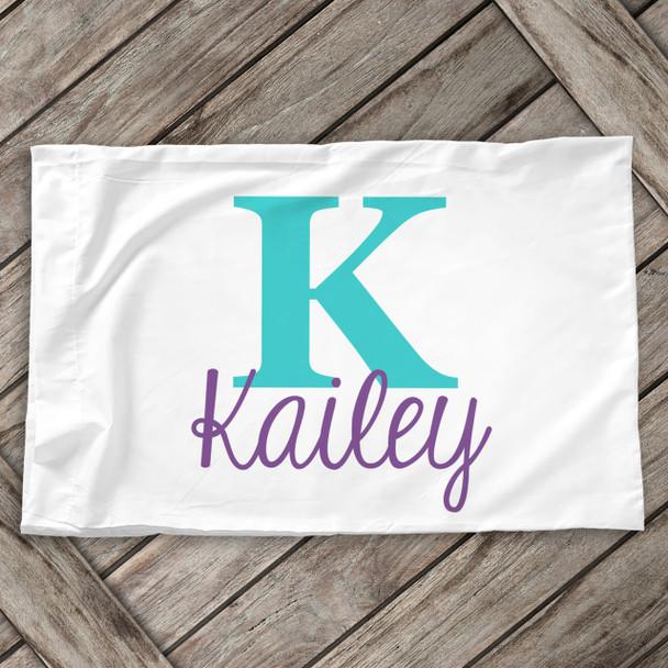 Monogrammed personalized pillowcase / pillow