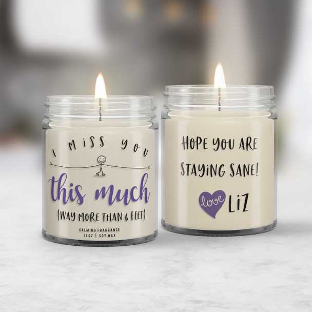 quarantine gift miss you so much candle | missing you candle sending a hug gift candle soy blend wax with calming fragrance CNDL-016