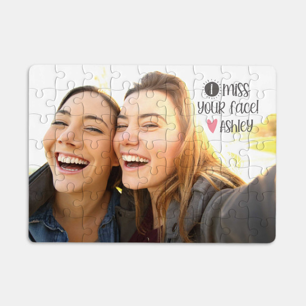 Quarantine gift social distancing i miss your face personalized selfie photo puzzle