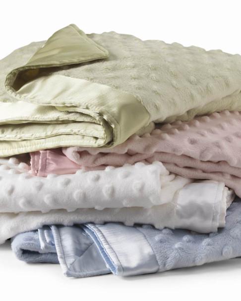 Sweet New Baby Minky Dots Swaddling Receiving Blanket