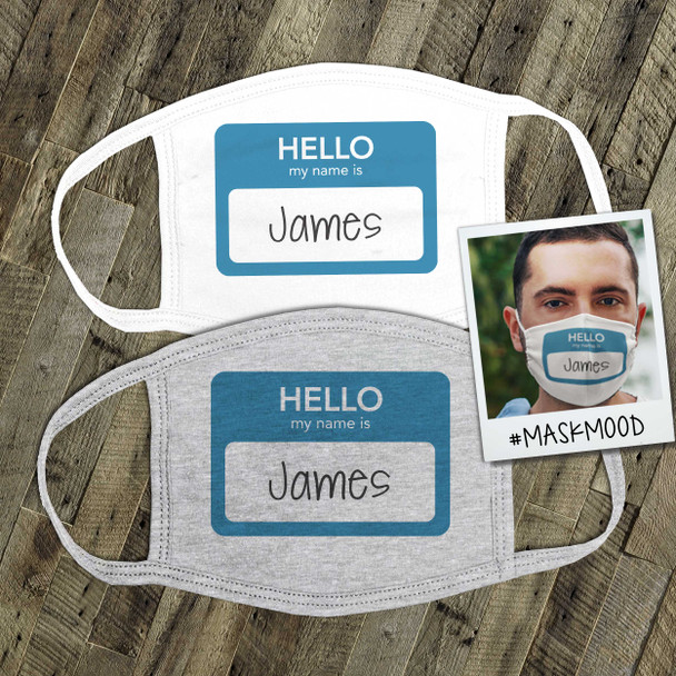 Hello my name is office work place conference personalized face mask