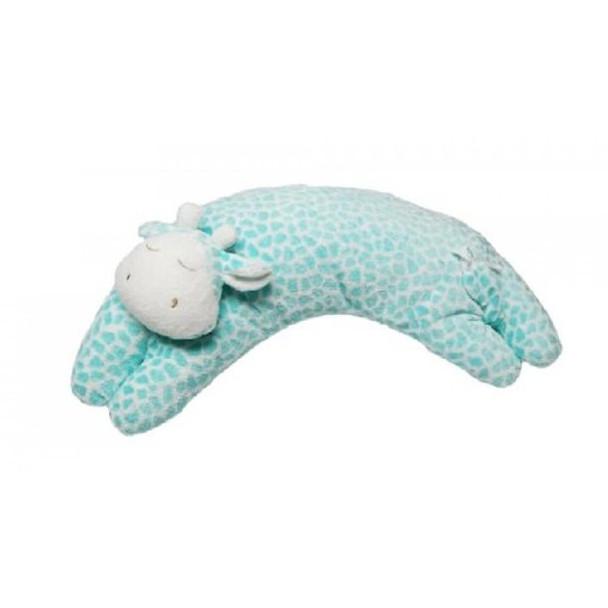 Aqua Giraffe Curved Pillow by Angel Dear