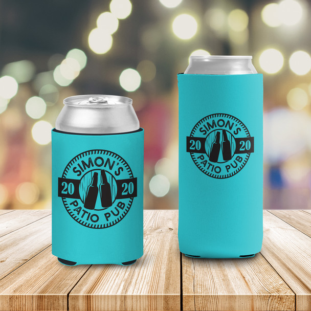 Patio pub social distancing personalized slim or regular size can coolie