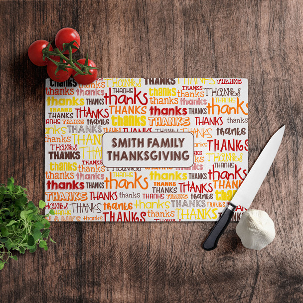 Family Thanksgiving personalized cutting board