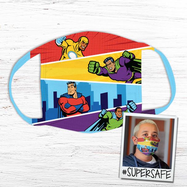Super hero super safe fabric face mask