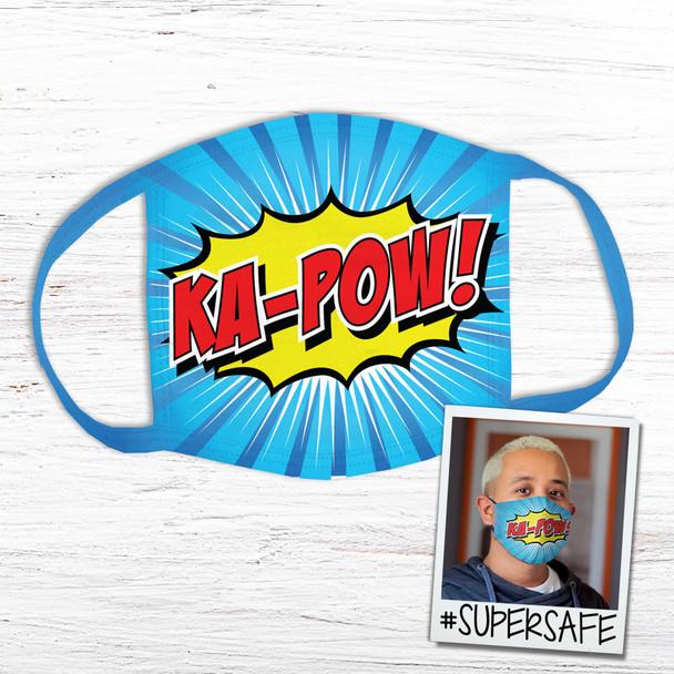 Ka-Pow superhero super safe fabric face mask