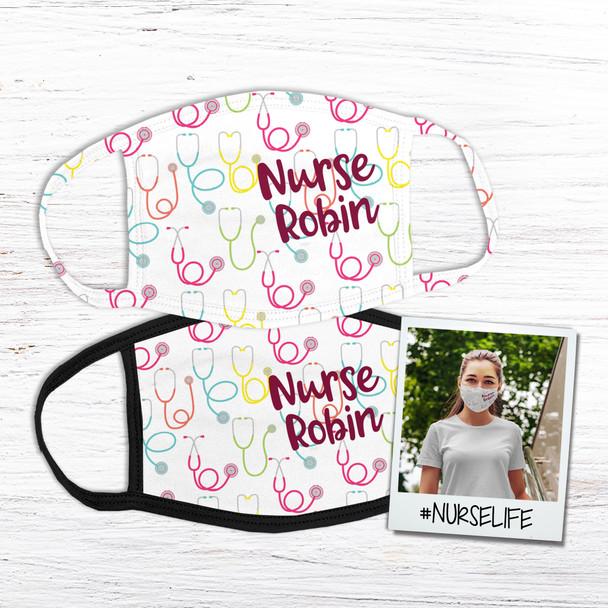 Nurse personalized fabric face mask