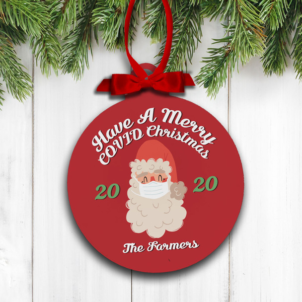 Merry covid Christmas 2020 holiday ornament