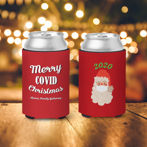 2020 merry covid christmas personalized slim or regular size can coolie