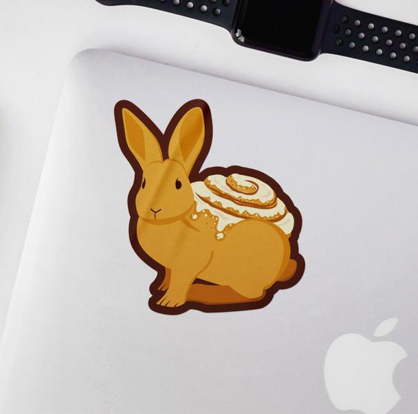 Funny cinnamon bunny vinyl sticker