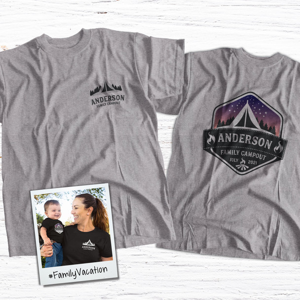 Family vacation campout personalized Tshirt