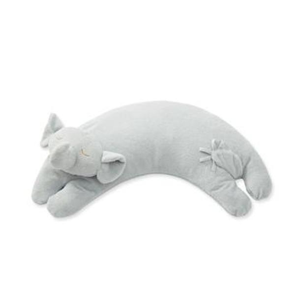 Grey Elephant Curved Pillow by Angel Dear