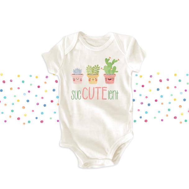 Funny cute sucCUTElent yucca cactus girls bodysuit or Tshirt