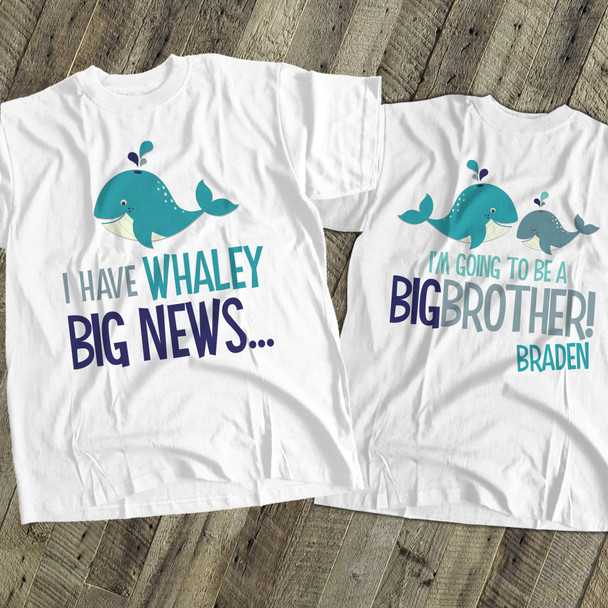 Big brother to be shirt whaley big news pregnancy announcement Tshirt