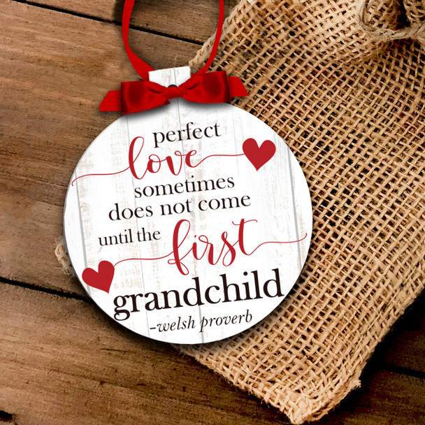 Holiday ornament perfect love grandparent Christmas ornament
