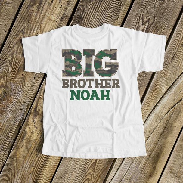 Big brother shirt camo personalized Tshirt