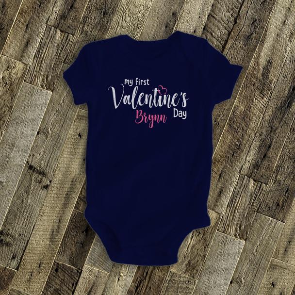 Valentine's Day baby's first DARK bodysuit