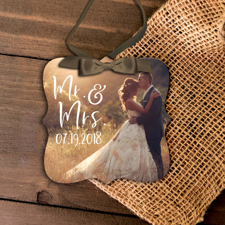 First Christmas mr and mrs photo ornament
