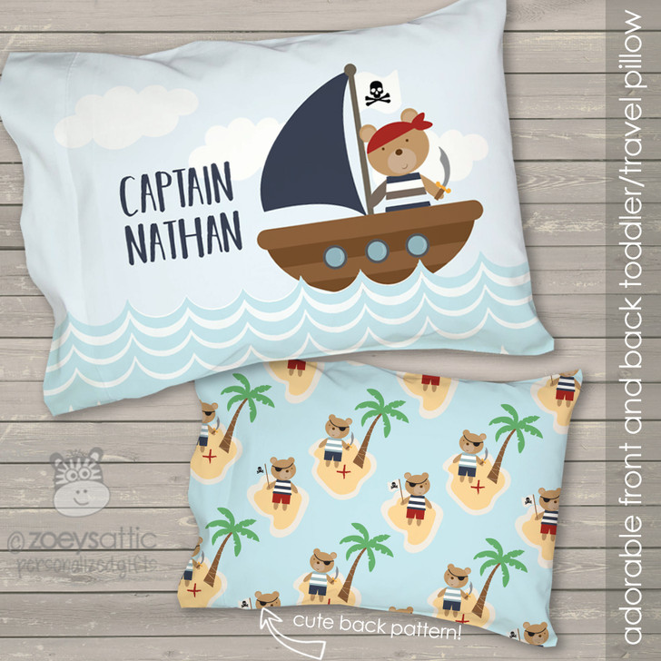 Pirate personalized travel pillow