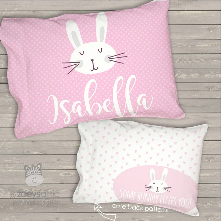 Toddler travel pillow personalized some bunny loves you girl