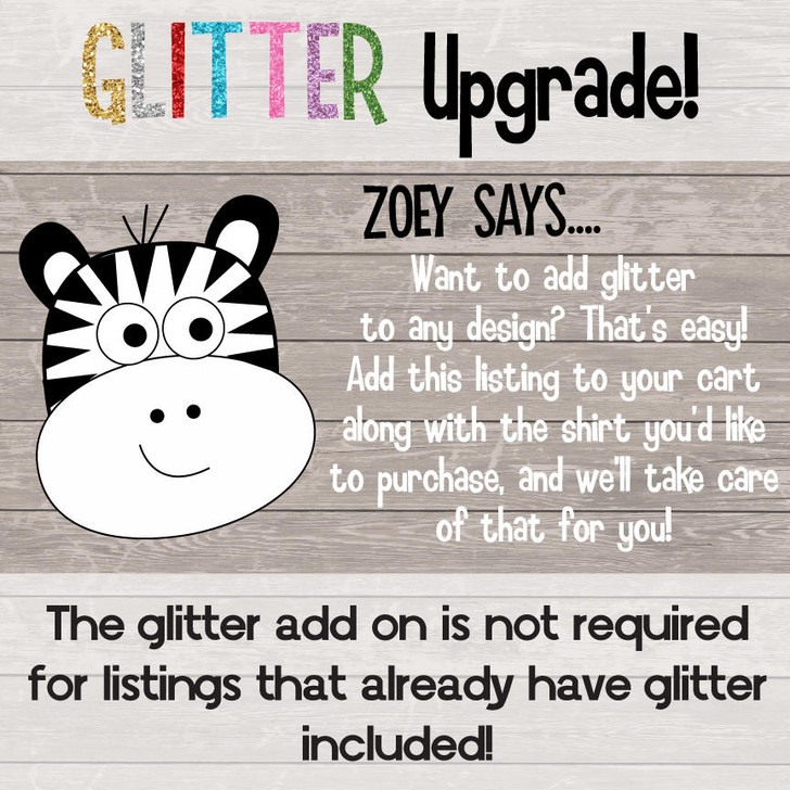 Glitter or Foil Vinyl Add On Upgrade Fee