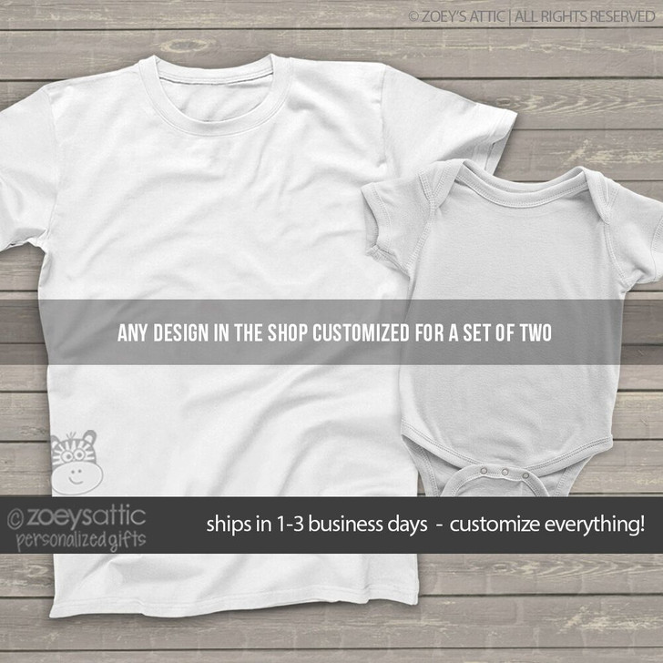 Set of TWO sibling shirts -you choose the design and customize everything