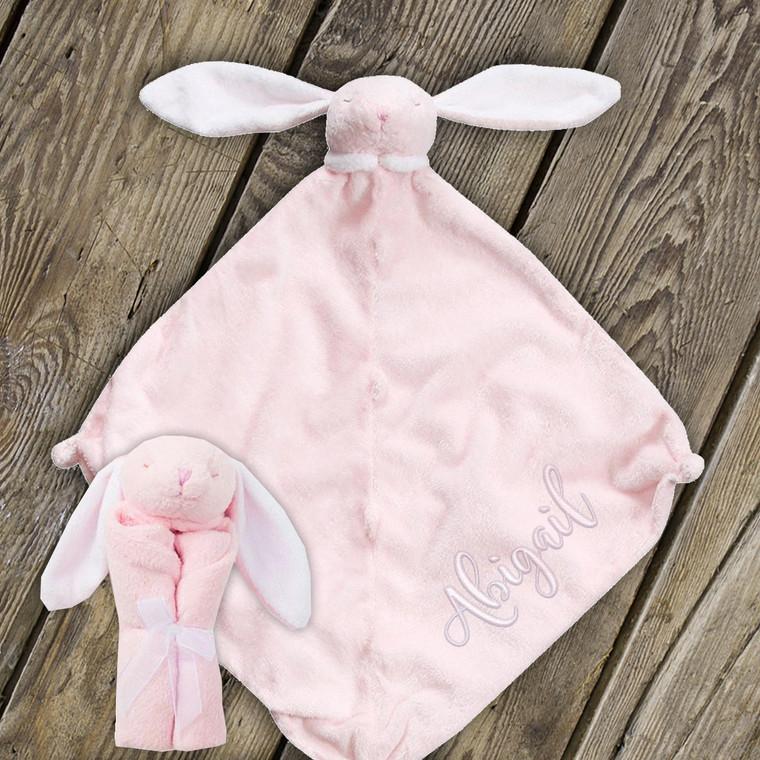 Pink Bunny Blankie Lovie by Angel Dear