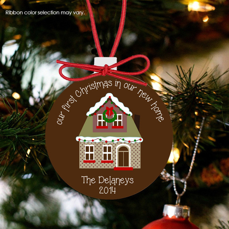 Holiday ornament new house first Christmas in new home personalized ornament