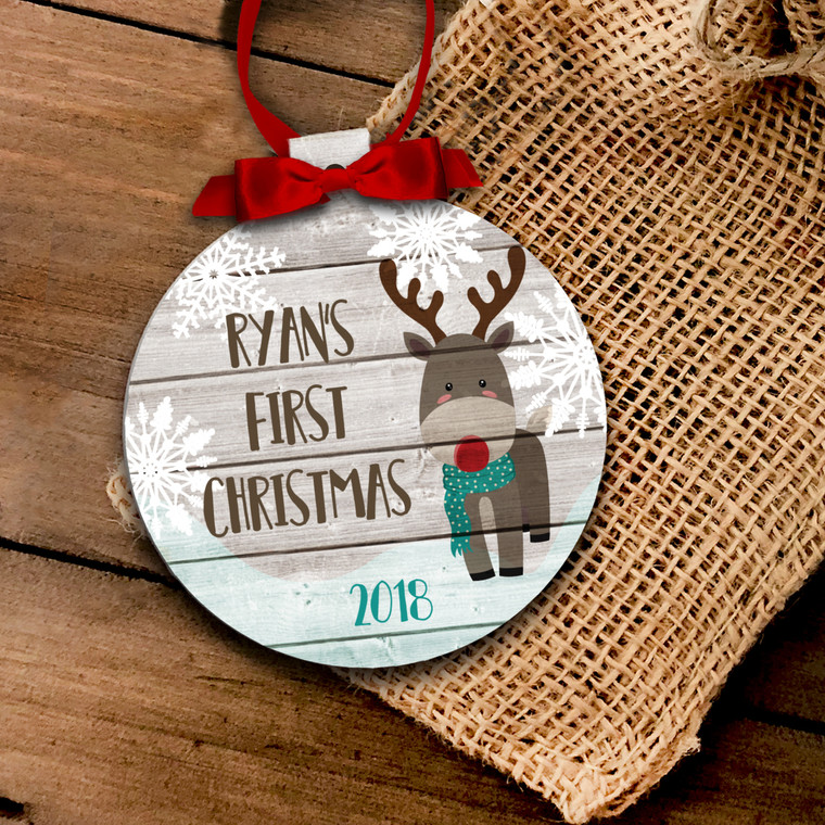 First Christmas deer ornament