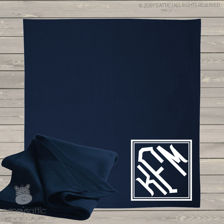 Monogram fleece blanket