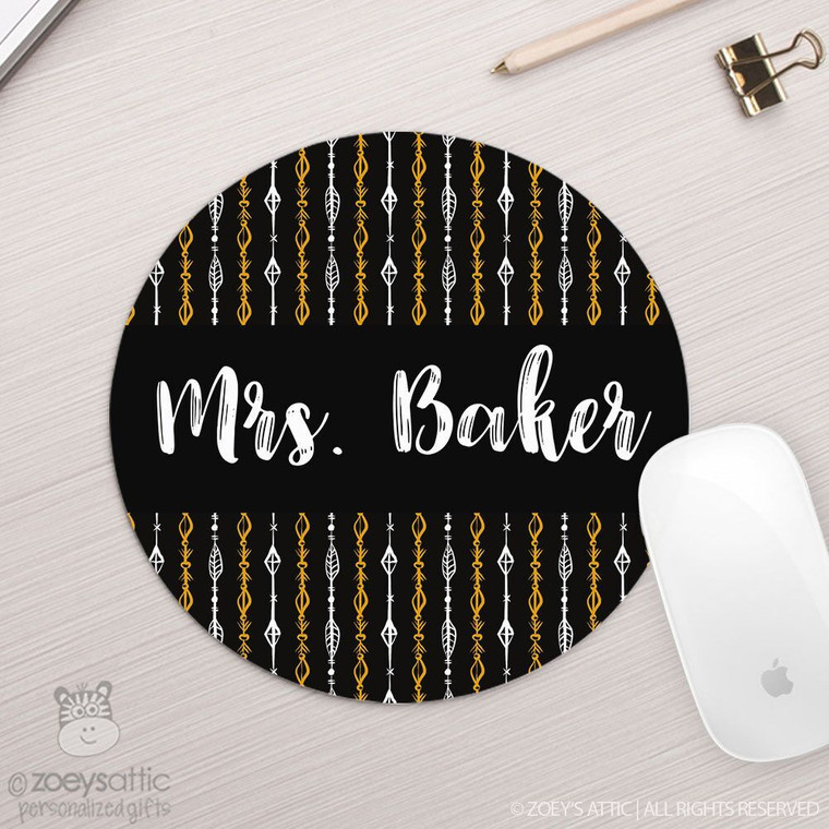 Arrow personalized round / circular mousepad
