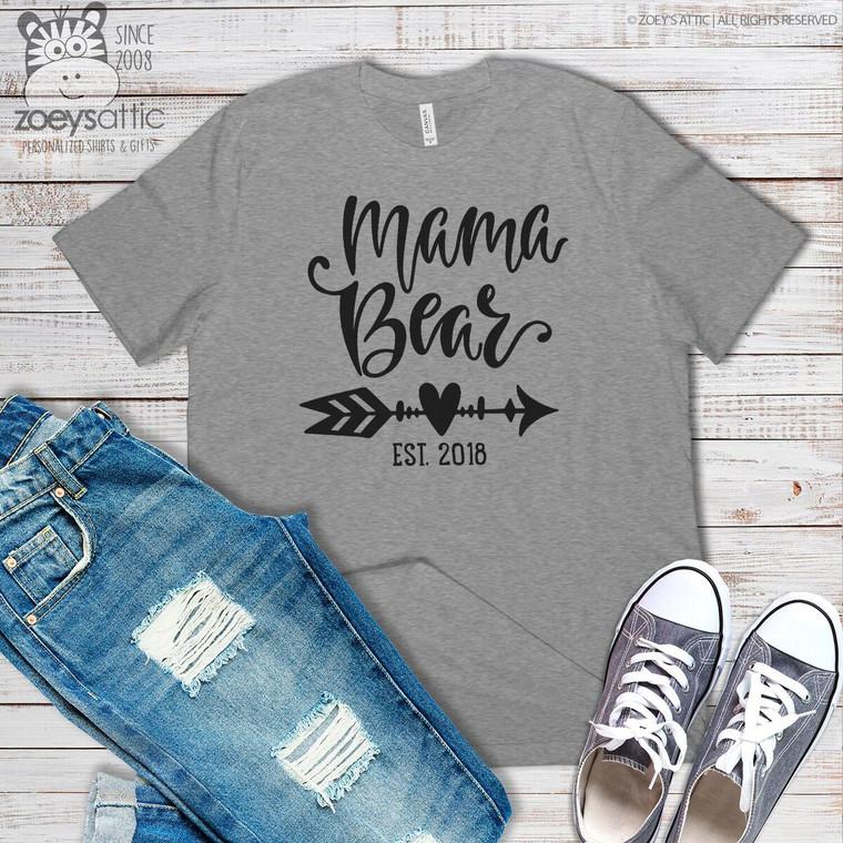 Mama bear heart arrow crew neck or vneck shirt