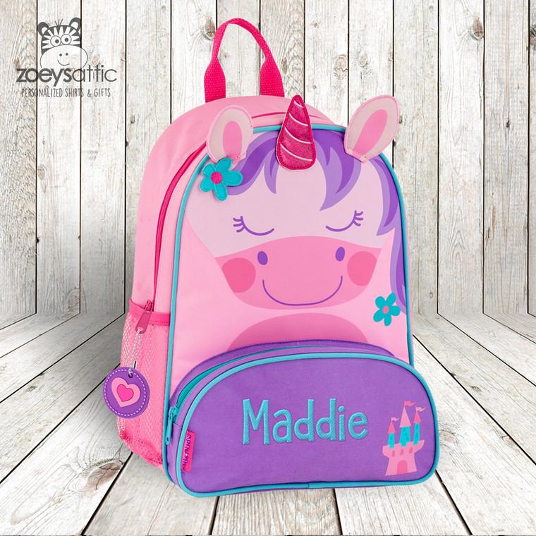 Unicorn personalized embroidered sidekick backpack by Stephen Joseph