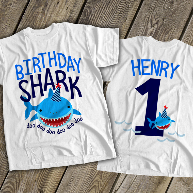 Birthday baby shark first birthday Tshirt