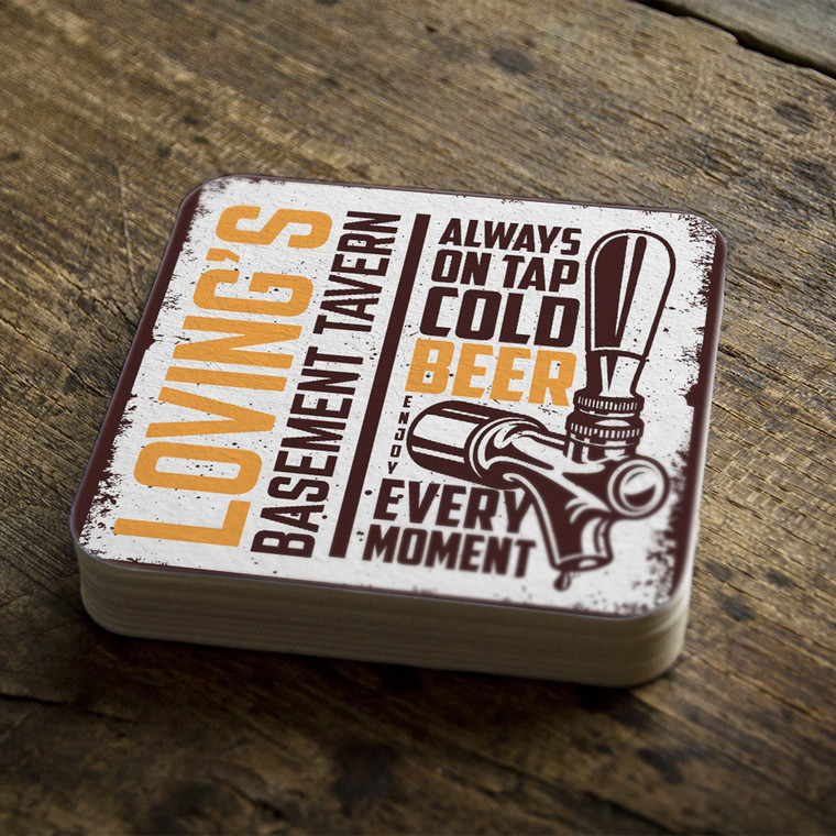 Stock the bar custom square party coasters