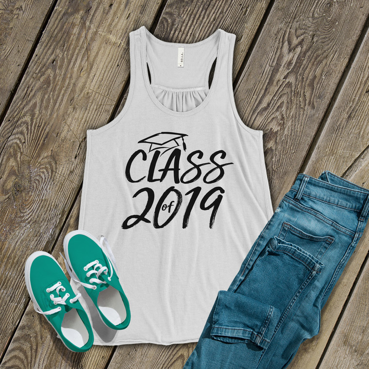 Graduation class of any year flowy tank top